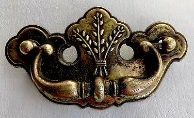 "Brass Chippendale Vintage Antique Hardware Drawer Pulls 3""center Batwing"