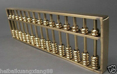Collectible Chinese Tibetan Brass carved Abacus-Calculator