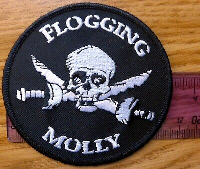 Flogging Molly Pirate and Sword Iron on Embroidered Patch licensed Real & legit