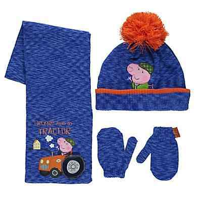 Peppa Pig:2016 George Winter Set,mitts/hat/scarf,1-3,4-6Yr Approx,nwt