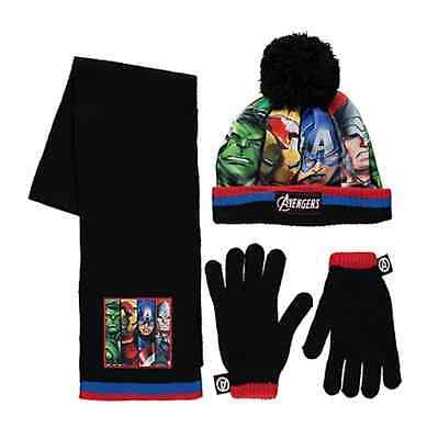 Marvel Avengers:2016 Winter Set,mitts Or Gloves /hat/scarf,1-3,4-8,8-12Yr,nwt