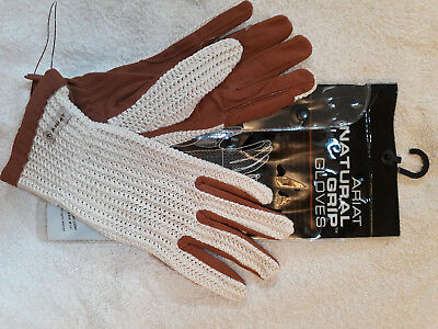 Brand new Ariat Natural Grip Gloves size 7.5.  NO RESERVE