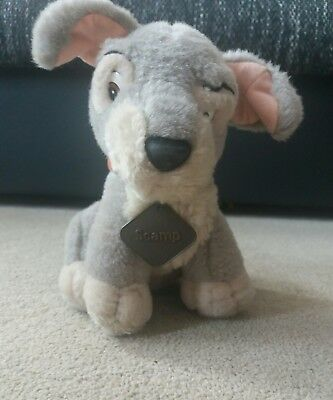 Scamp Plush From lady and the Tramp plush soft toy teddy Disney 8""