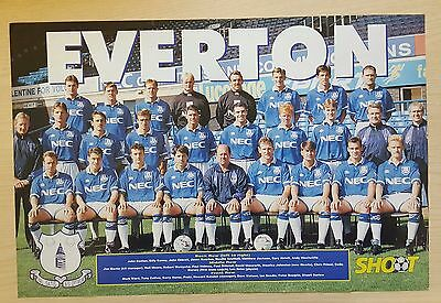 SHOOT football magazine team / squad A3 picture Everton - VARIOUS