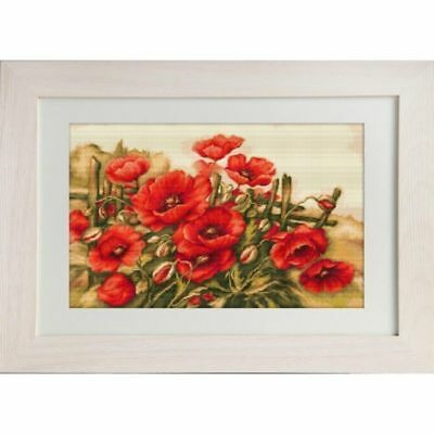 Needlepoint Embroidery Kit - Feld Mohn - Luca-S G490