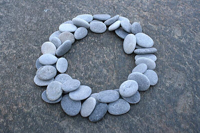 50 Pebbles For Crafting - Finest Quality Small Beach Stones