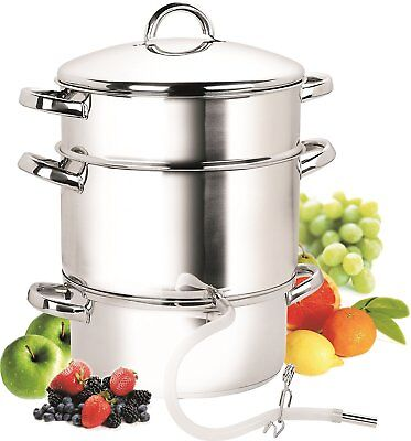 11-Quart Stainless-Steel Juicer Steamer Fruit Juice, Jelly, Syrup, Steam Veggies