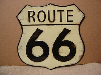 Historic Route 66 Vintage Style Metal Road Sign Ford,chevy, Man Cave