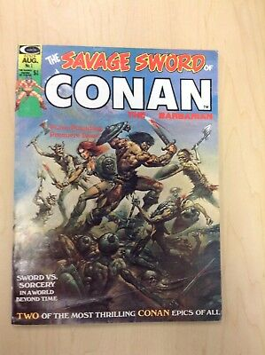 The Savage Sword of Conan #1 (Aug 1974, Marvel) - Good Condition!