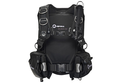 Apeks Black Ice Scuba Diving BCD - Black - Size Medium/Large, NEW