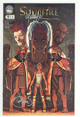 Soulfire (2004) #4A Signed by Michael Turner & Peter Steigerwald no COA NM-