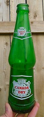 SCARCE 1969's VINTAGE CANADA DRY GINGER ALE (10 oz) ACL SODA POP BOTTLE