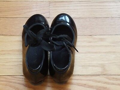 EUC Girls Tap Shoes 12.5 M Black Danshuz