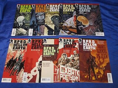 BPRD Hell On Earth New World (2010) #1-5 Russia (2011) #1-5 Long Death #1-3 NM