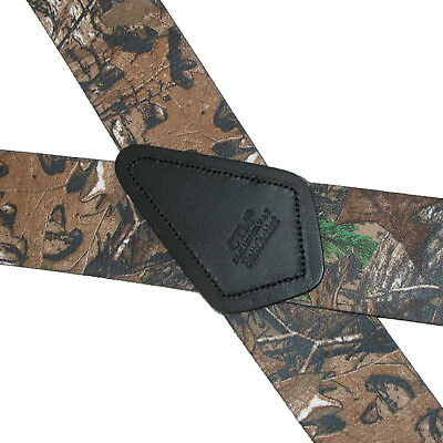 New CTM Men's Big & Tall Elastic Clip End Realtree Camouflage Suspenders