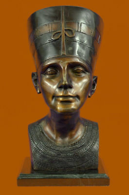 Bronze Queen Nefertiti, God, The Queen, Beautiful, Egyptian Pharaoh Ancient BB