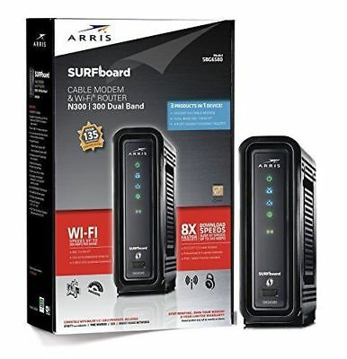 NEW ARRIS SURFboard SBG6580 DOCSIS 3.0 Cable Modem/ Wi-Fi N300 2.4Ghz +