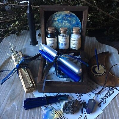 Witch Box Moon Ritual Wicca Pagan Goddess Trinket box Altar Supplies Spell Kit
