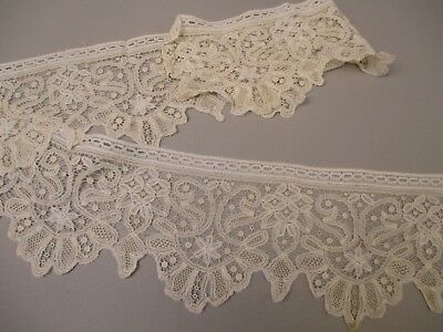 Antique Victorian honiton lace flounce