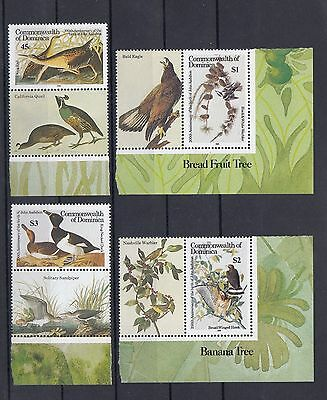 Timbre Stamp 4  Ile Dominica Y&t#847-50  Oiseau Bird Neuf**/mnh-Mint 1985 ~A36
