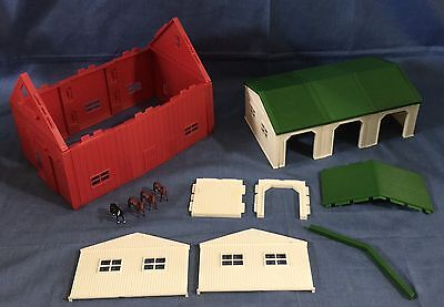 Ertl Farm Country Red Barn Cattle Hog Livestock Shed Building PARTS,4 Horses1/64