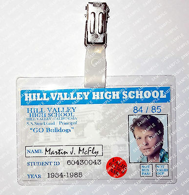 Back To The Future Marty Mcfly ID Badge Student Cosplay Fancy Dress Halloween
