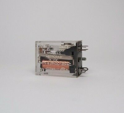 Lot 431 MAGNECRAFT RELAY W67RCSX-18 24 VDC 8PDT ICE CUBE RELAY