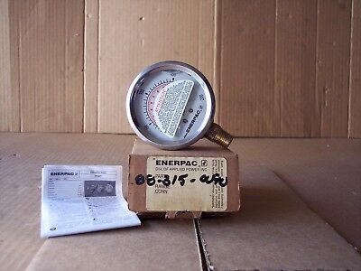ENERPAC Pressure Gauge,0 to 200 psi,2-1/2In face. Fluid filled. New.