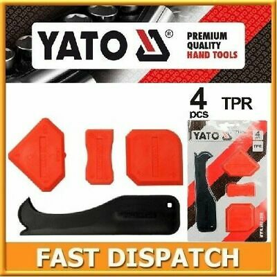 Yato Silicone Sealant Spreader Finishing Tool Applicator Tiling Tool Set Of 4