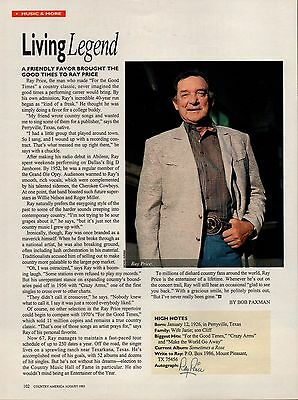 Ray Price 1 Page Clipping