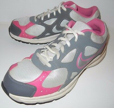 Nike Youth Girls Pink White & Grey Tennis Running Shoes Size 7 Y