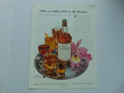 1949-OLD FORESTER BOURBON WHISKY vintage print ad -784