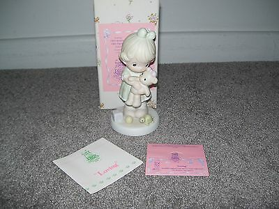 "Precious Moments ""Loving""1993 Members Only Figurine New In Box"