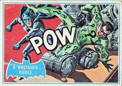 """BATMAN Card #29B """"A WRETCHED RIDDLE"""" - 1966 National Periodical Publications Inc"""