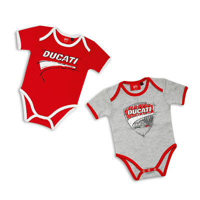 Ducati Corse Sketch Baby Body Romper Set 2 Pieces One Piece Red White NEW 2018