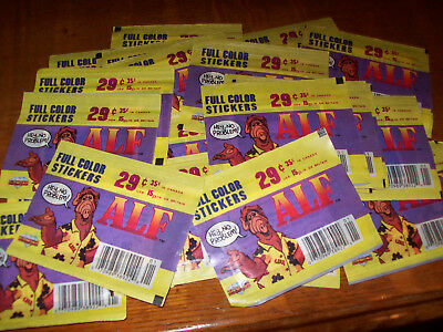 36 Vintage Diamond ALF Full Color Stickers Packs (1987) RARE