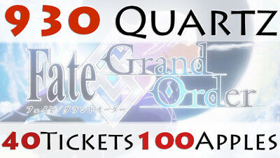 WorldwideAutoDelivery Fate Grand Order Starter Account 910 Quartz Fatego Gem FGO