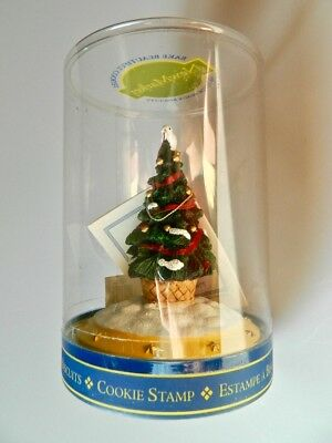 Christmas Tree with Dove New Market Design Cookie Stamp 1998  Collectible NIP