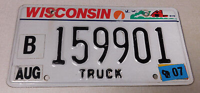 2007 Wisconsin truck license plate