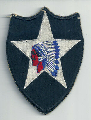 Wwii Era 2Nd Infantry Division Cut Edge Snow Back Insignia Patch Ww2