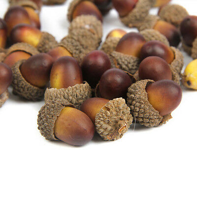 60x Fake Artificial Acorn Christmas Pinecones  Nuts Party Festival Table Decor