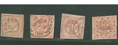 PERU Scott 11 Lot Of 4 Stamps With Various Cancels