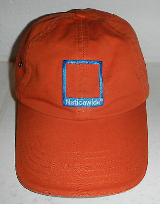 NWOT Nationwide Insurance Company Logo Embroidered Orange Baseball Hat Cap