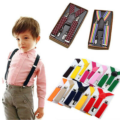 1PCS Kids Children Boy Girls Toddler Clip-on Suspenders Elastic Adjustable Brace