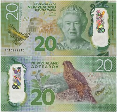 """New Zealand $20 P186""GraemeWheeler""SUPERB GEM UNC Single Banknote"""