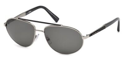 181a30fae5c Ermenegildo Zegna Sunglasses EZ 0037 14D Polarized Shiny Gunmetal   Smoke  61 mm