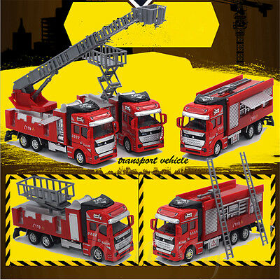 1:32 Fire Truck Scale Fire Engine Pullback Friction Toy Emergency Vehicles Gift
