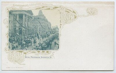 1901 Pt Npu Ub Postcard Souvenir Of Federation Royal Procession R Jolley Pub S37