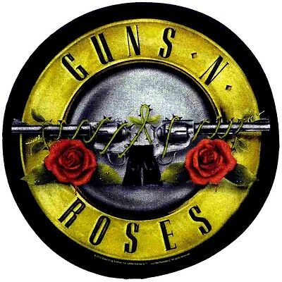 Guns N Roses  circular Back Patch XLG free worldwide shipping