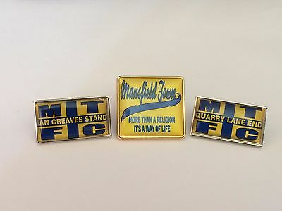 Mansfield Town 3 different badges